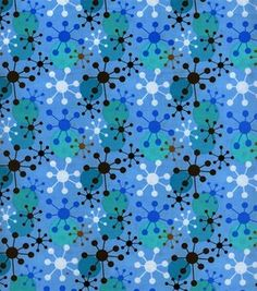 Keepsake Calico Fabric-Jacks Big Blue --  made in South Korea