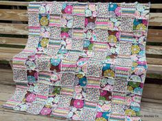 Ready To Ship Large Throw Lap Rag Quilt Cozy by SouthernStitchesCo