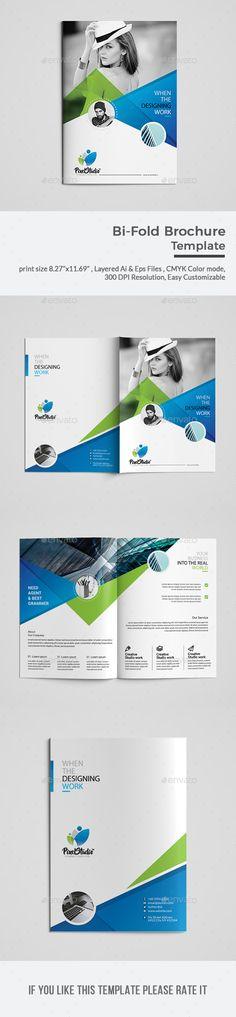 Bi-Fold Brochure Template Vector EPS, AI Illustrator
