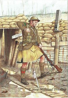 The Black Watch (Royal Highland Regiment) France 1917