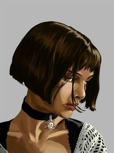 POSTER This is a great design because it doesn't take anything from the original shot from the film Leon The Professional. Leon The Professional Mathilda, The Professional Movie, Professional Poster, Natalie Portman Leon, Leon Matilda, Mc Bess, Mathilda Lando, Additive Color, Digital Portrait