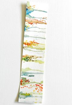 Simple bookmark - fun to include within a card - Grow Creative: Abstract Watercolor Bookmarks