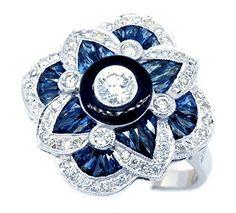 0.29 Carat Center Diamond 18K White Gold Blue Sapphire Antique Ring [RA0011] BKGjewelry http://www.amazon.com/dp/B015KZ2EDU/ref=cm_sw_r_pi_dp_5wvowb1MMW7NY