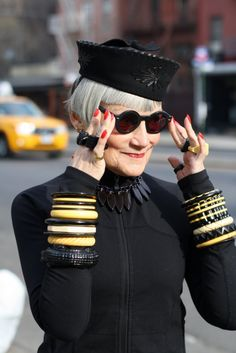 Lady-in-hat. Photo by Ari Seth Cohen - Advanced Style.