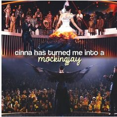 When I read that I was like oh my god!! I couldn't believe cinna turned katniss into a mockingjay!! I thought that was awesome!!