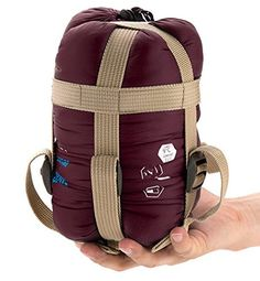 BAITER Ultralight Sleeping Bag Outdoor Sleeping Sack for Hiking Camping Bedroll Compression Sack Ultrasmall Size Sleeping Bags Traveling Wine -- More info could be found at the image url.(This is an Amazon affiliate link and I receive a commission for the sales)