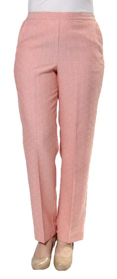 Romancing The Stone Proportioned Medium Pant in Blush by Alfred Dunner