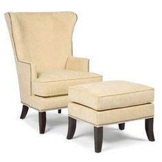 Fairfield Chair Abe Transitional Chair and Ottoman | Wayfair