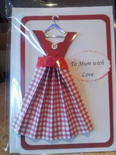 Mothers day vintage dress card