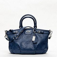 MADISON LACE LEATHER SOPHIA SATCHEL - COACH.. I would love to turn this into a camera bag!
