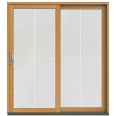 JELD-WEN 71-1/4 in. x 79-1/2 in. W-2500 Brilliant White Prehung Right-Hand Clad-Wood Sliding Patio Door with 4-Lite Grids