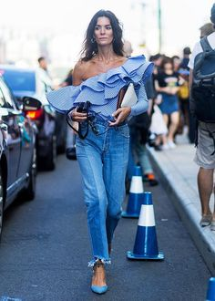 Match It With A Flamboyant Top - Pinterest Says You Can Wear Mom Jeans And Still Look Hip - Photos