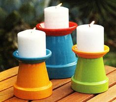 DIY! Painted terra-cotta POTS & saucers create FUN outdoor lighting! ✿✿✿   940841_10151624922245070_95426528_n.jpg 403×353 pixels