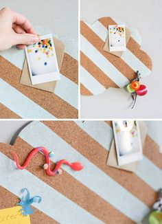 DIY // cloud cork board for back to school
