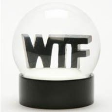 wtf snow globe