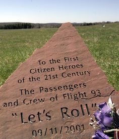 The hero's of Flight 93. We honor.  On Tuesday morning, September 11, 2001, the U.S. came under attack when four commercial airliners were hijacked and used to strike targets on the ground. Nearly 3,000 people tragically lost their lives. Because of the actions of the 40 passengers and crew aboard one of the planes, Flight 93, the attack on the U.S. Capitol was thwarted.