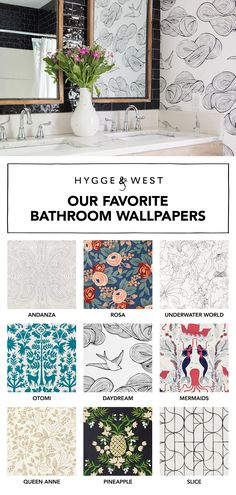 The bathroom is the perfect place to add pattern - read all about our favorite wallpapers for that space!