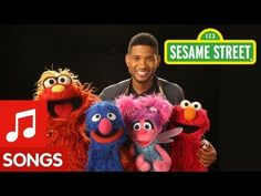 ABCs - Pop/Rap singer Usher sings ABC Song with Sesame Street muppets.
