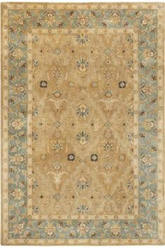 The Home Decorators Collection Menton Gold Blue 4 Ft X 6 Ft Area Rug Features Hand Tufted Construction For Long Lasting Durability And Safety