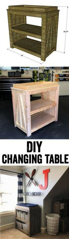 DIY Changing Table – Free Plans & Video – LOVE this DIY Changing Table! It would also make a great console table or coffee bar! Super easy to build… Free plans and video tutorial at DIY Changing Table Free PDIY Farmhouse CribAna White Baby Crib Diy, Baby Room Diy, Baby Cribs, Baby Baby, Furniture Projects, Furniture Plans, Home Projects, Furniture Stores, Origami Furniture