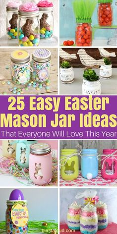 Cute and easy DIY Easter Mason Jar Ideas and Crafts you have to try this Easter! gifts mason jars 25 DIY Easter Mason Jar Ideas That Everyone Will Love Mason Jars, Mason Jar Crafts, Jelly Jar Crafts, Diy Ostern, Mason Jar Lighting, Wine Bottle Crafts, Jar Gifts, Easter Treats, Crafts For Kids