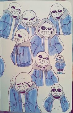 Sketches some Sans-es at work and just slapped some inks on them today Undertale Comic, Papyrus Undertale, Undertale Love, Undertale Drawings, Undertale Fanart, Frisk, Gravity Falls, Underswap, Chef D Oeuvre