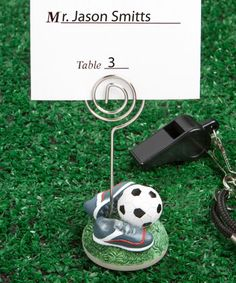 Soccer Themed Place Card Holders at CheapFavorShop.com