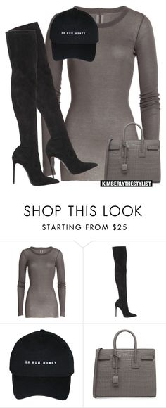 """""""Untitled #2630"""" by whokd ❤ liked on Polyvore featuring Rick Owens, Le Silla, Yves Saint Laurent, women's clothing, women, female, woman, misses and juniors"""