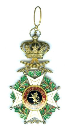Belgium.Order of Leopold Commander  French/Flemish  military with swords