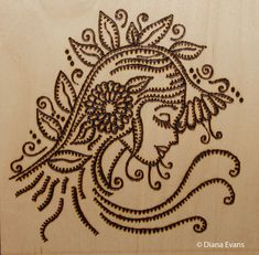 Free Wood-Burning Patterns | ... My latest body of work - Wood and Pyrography - Transformation Part 3