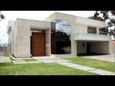 fachada de casa fundo piscina fachadas residenciais