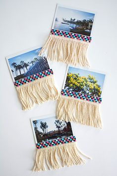 Add fringe to photos to make a decorative garland
