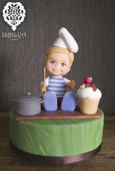 Topper for a baby chef