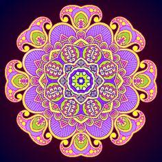 Colored Jesters Zentangle Design by skyfreak273.deviantart.com