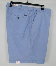 IZOD Oxford Shorts Extender Waist Blue Revival Men's Big & Tall Sizes 44, 48 NEW #IZOD #CasualShorts 16.99