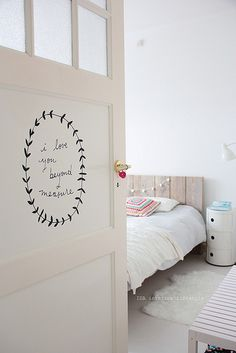 quote on the door - on every door in a hallway, perhaps? lovely idea.   Shanna Murray by IDA Interior LifeStyle