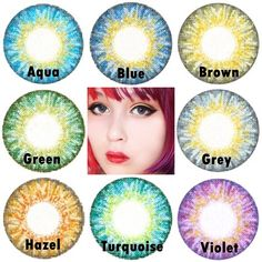Daily lens Trublend series #cosplayers #ohmykittydotcom #contacts #circlelenses #popular #cosplay #eyes #makeup Hazel Eye Contacts, Purple Contacts, Colored Eye Contacts, Hazel Eye Makeup, Makeup For Green Eyes, Blue Eye Makeup, Hazel Eyes, Smokey Eye Makeup, Dark Brown Eyes