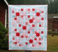 Simple patchwork and stars quilt, with tutorial, at Lovely Little Handmades - really sweet quilt Kerri!
