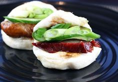 fluffy, steamed Asian buns above were made with Pillsbury refrigerated buttermilk biscuit dough?Fresh steamed buns filled with purchased barbecued pork and roast duck.