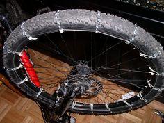 Cadenas de nieve para ruedas de bici