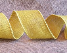 """Yellow Burlap Wired Ribbon 2 1/2"""" wide from Cottage Crafts Online"""