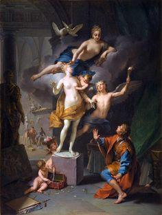 Jean Raoux - Pygmalion adoring his statue (1717)