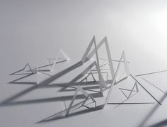 richard sweeney : 'paper sculptures' geometric shapes to form zones for a space Folding Architecture, Architecture Concept Drawings, Abstract Sculpture, Sculpture Art, Paper Sculptures, Paper Structure, Paper Engineering, Arch Model, 3d Studio