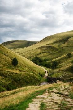 England Travel Inspiration - Jacobs Ladder, Edale, Peak District, The Start of the Pennine Way more or less. Tim M