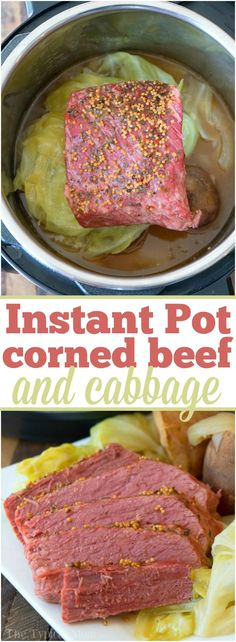 Easy Instant Pot Corned Beef and Cabbage Pot Loading. Easy Instant Pot Corned Beef and Cabbage Pot Cooking Corned Beef, Corned Beef Recipes, Crock Pot Corned Beef And Cabbage Recipe, Pressure Cooker Corned Beef, Slow Cooker, Instant Pot Corned Beef Brisket Recipe, Cornbeef And Cabbage Recipe, Beef Brisket Crock Pot, Corn Beef And Cabbage