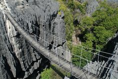 The Grand Tsingy of Bemaraha in western Madagascar is the world's largest stone forest.