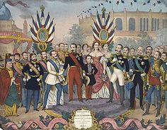 Napoleon III receives the rulers and illustrious men who visited the Exposition Universelle of #Paris 1867