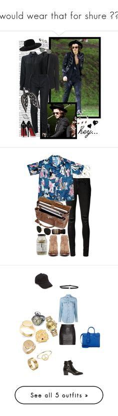 """""""I would wear that for shure 👌👌👌"""" by veronice-lopez ❤ liked on Polyvore featuring ASOS, Warehouse, rag & bone, Givenchy, Yves Saint Laurent, Alexander McQueen, Christian Louboutin, Marc by Marc Jacobs, Coco's Liberty and Ray-Ban"""