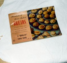 Cookbook, Recipe Book, Hook Up Cook Book, Home Baked Breads, Biscuits, Coffee Cakes, Nut Bread, Muffins, Rolls, Buns, Instruction Book by SierrasTreasure on Etsy