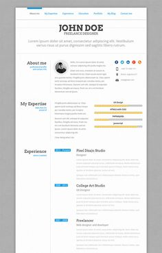 Perfect Your Resume Modern Resume  Resume Templates  Pinterest